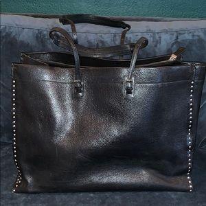 BALLY leather shoulder strap tote bag